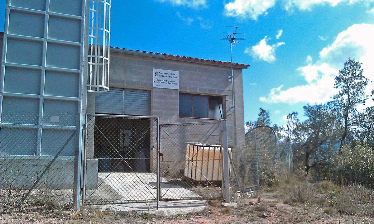 Estacions de tractament d'aigües potables per a subministrament d'aigües a nuclis urbans com Vilanova de Sau, Ullà, Viver i Serrateix...