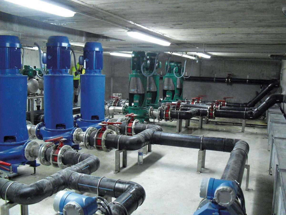 Estació de captació i bombament d'aigua marítima pel Centre de Recuperaió de Fauna Marina (CRAM) al Prat de Llobregat