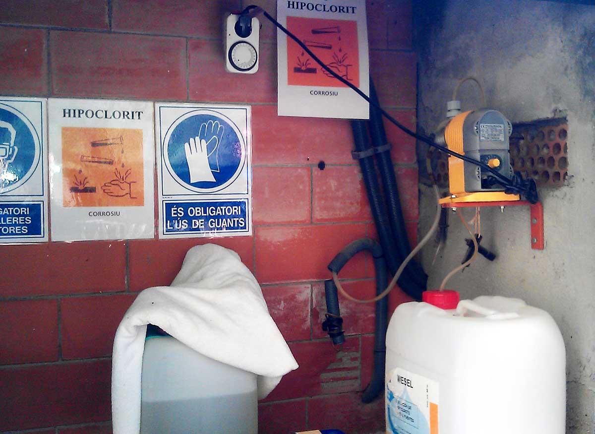 Cloracions automàtiques a dipòsits de la Comunitat Minera Olesana