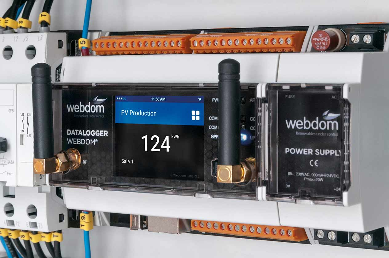 Subministre i instal·lació sistema WEBDOM per monitorització de consums
