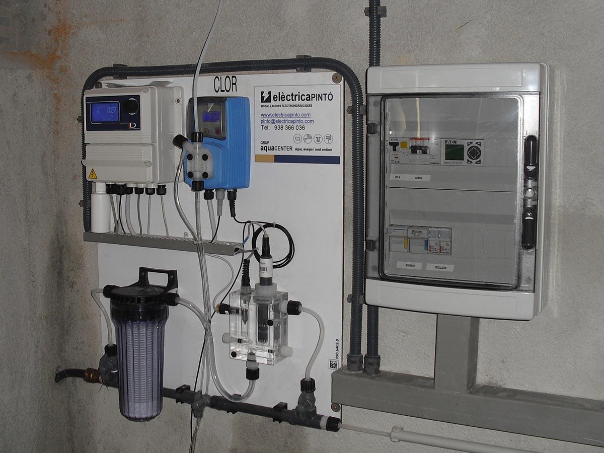 Cloració solar amb equip de cloració pastilles a dipòsit de Sant Sadurní d'Anoia