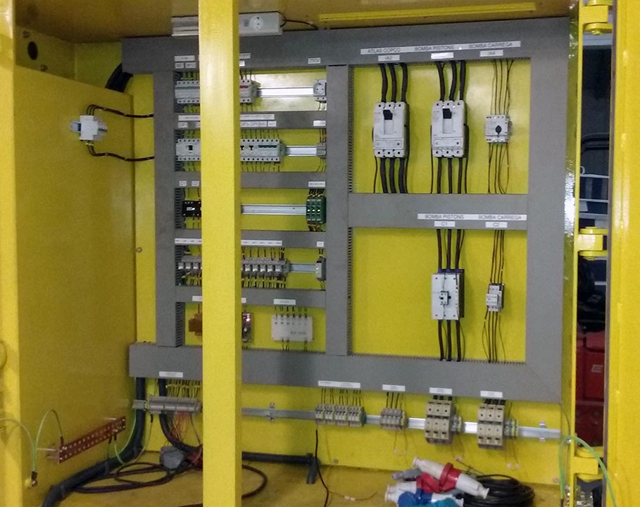 Muntatge cofre elèctric maquinaria per mina