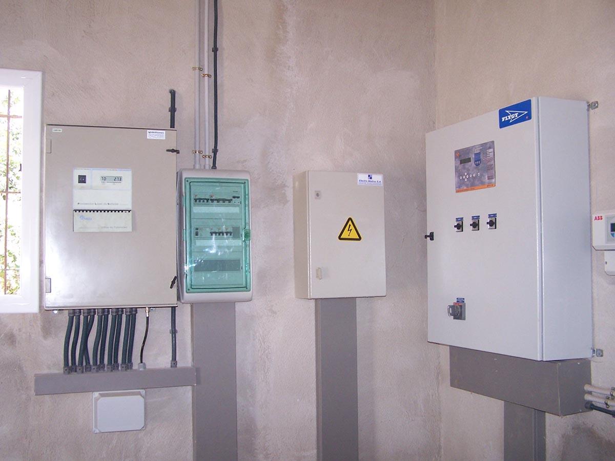 Instal·lació telecontrol arqueta de control la Pineda