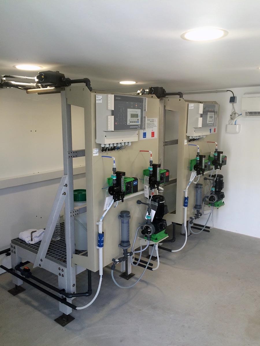 Instal·lació generador de diòxid de clor ETAP Olesa de Montserrat