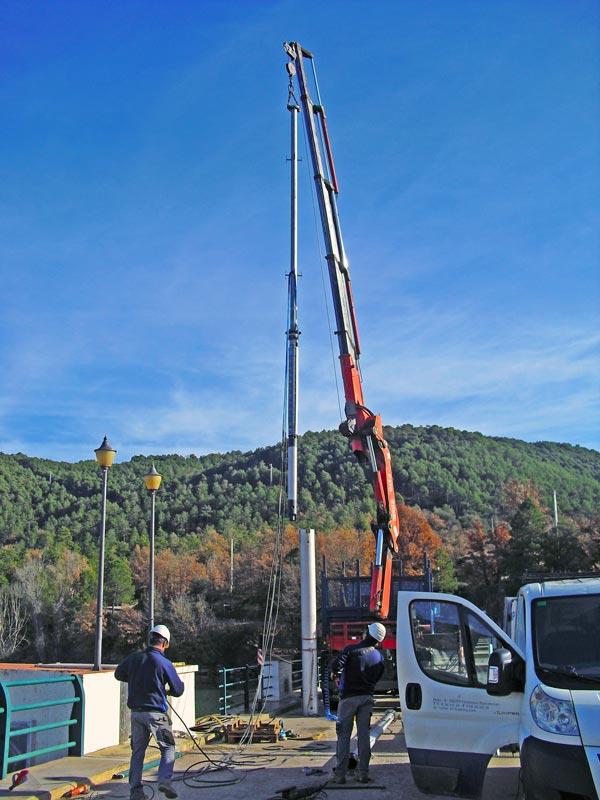 Captació i abastament d'aigua al pantà de St. Pons