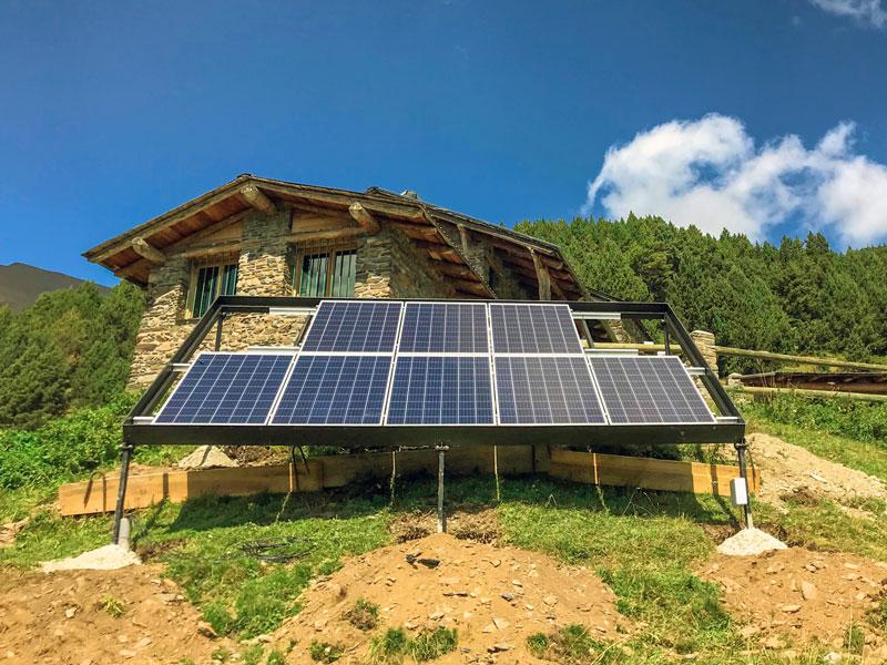 Instal·lació Autònoma 2,2 kWpic Andorra