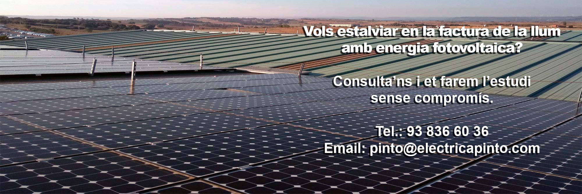 Autoconsum Fotovoltaic per Indústria