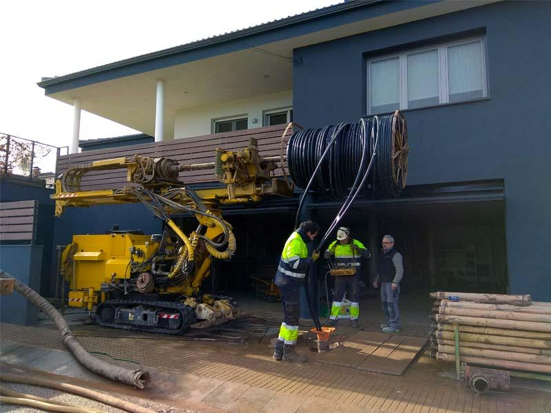 Equipament de pous per geotermia