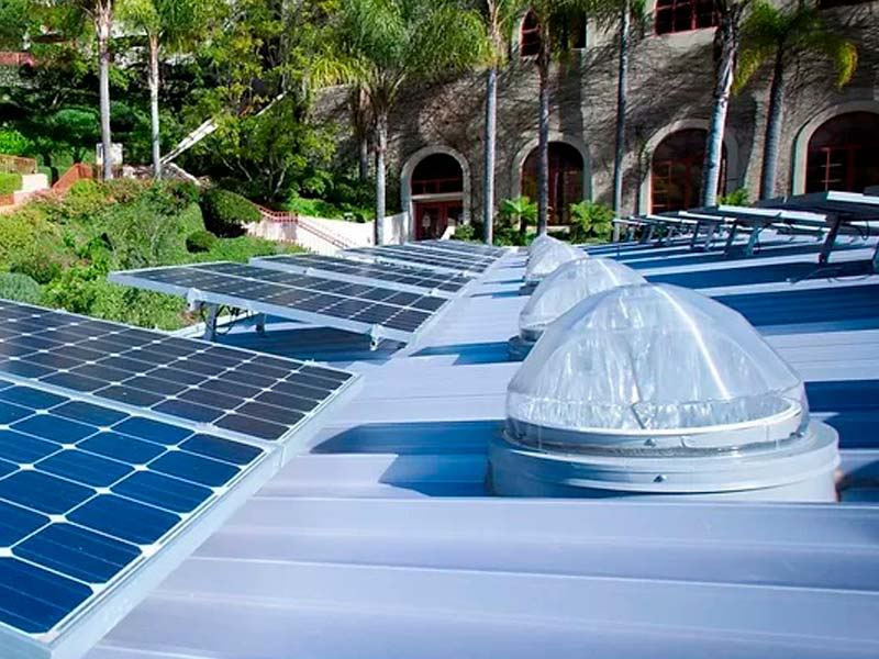 Iluminación natural con fotovoltaica