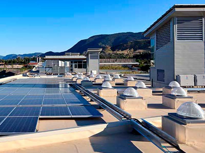 Instalación combinada con fotovoltaica